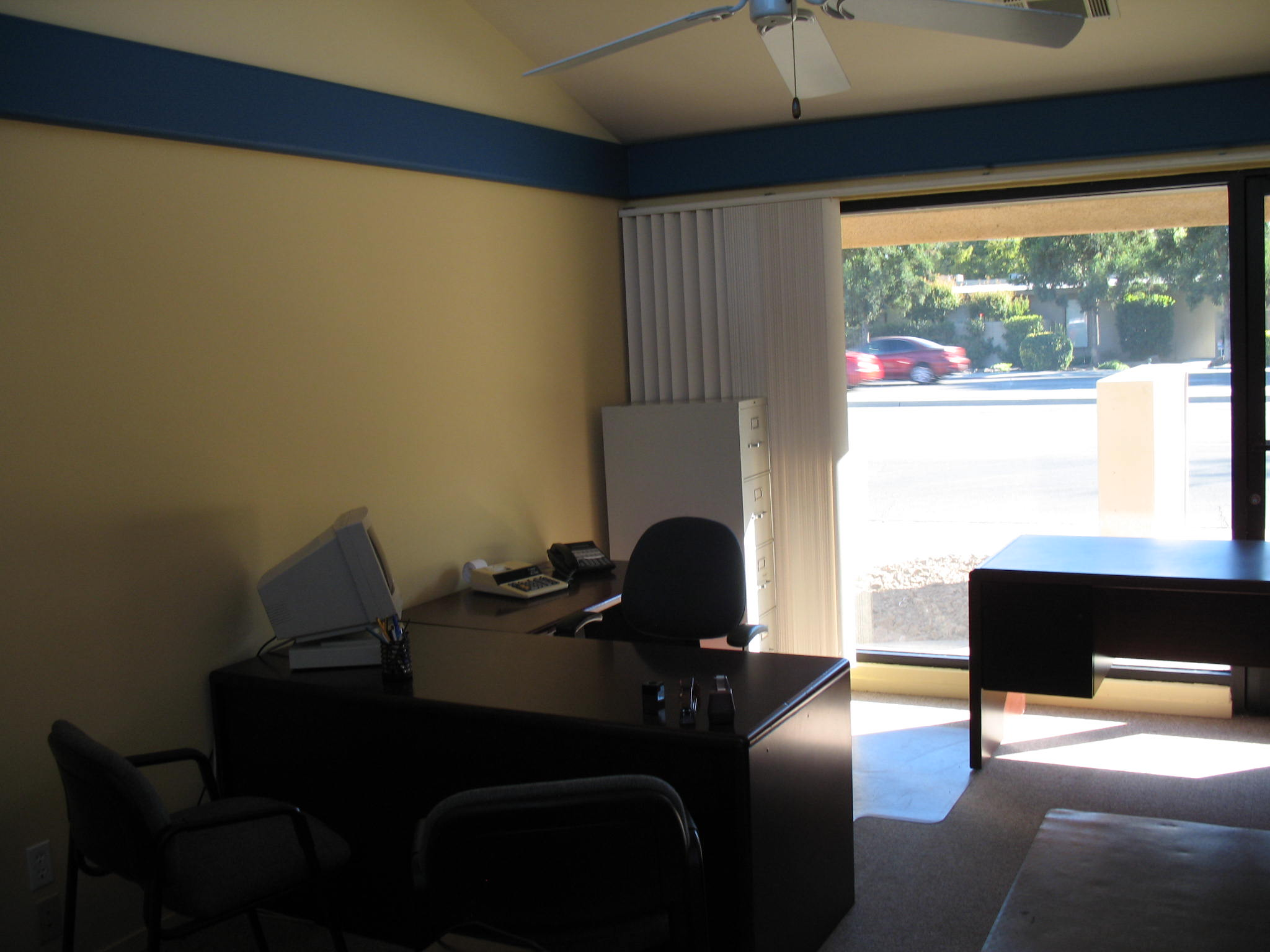 Inside large conference office room at Fig Garden Executive Suites