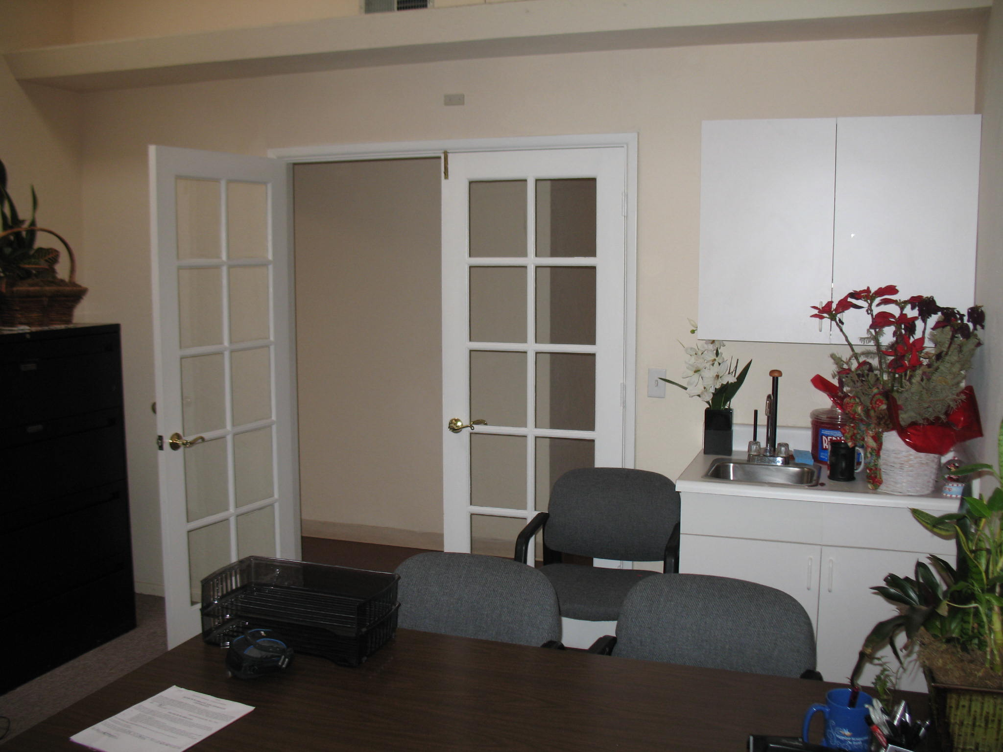 Inside front office at Fig Garden Executive Suites