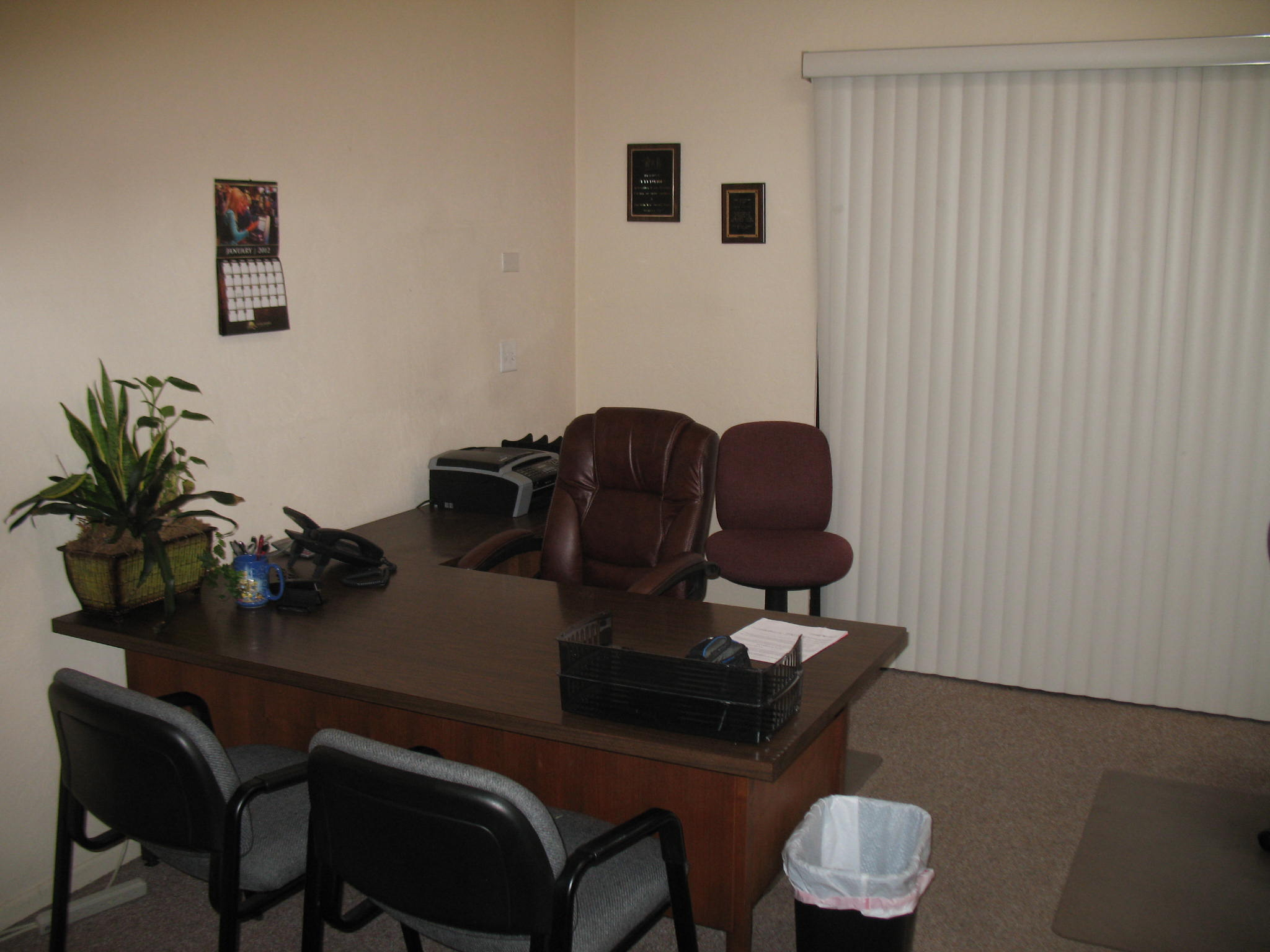 Office with desk and chairs at Fig Garden Executive Suites